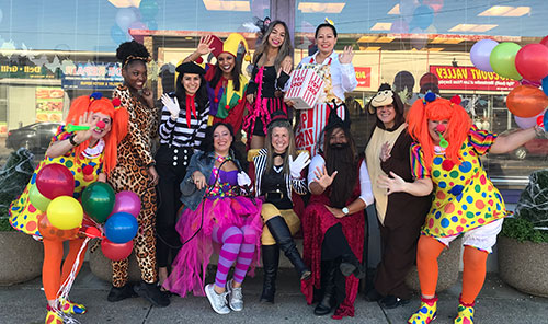 Photo of staff from Halloween 2019.